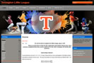 Wyoming Professional website design for Torrington Little League